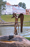 Monument of crying angel in Minsk Stock Images