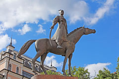 Monument for customs officers of Ukraine in Kyiv Royalty Free Stock Images