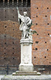 Monument of the Czech saint John of Nepomuk in the Sforza Castle Stock Images