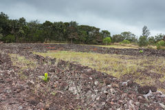 Monument d'état de Pu'u o Mahuka Heiau vu dans la direction vers l'est photos libres de droits
