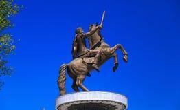 Monument d'Alexandre le grand, Skopje Images libres de droits