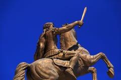 Monument d'Alexandre le grand, Skopje Photo libre de droits