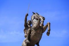 Monument d'Alexandre le grand, Skopje Photographie stock libre de droits