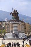 Monument d'Alexandre le grand, Skopje Photographie stock