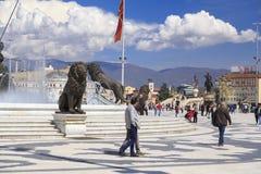 Monument d'Alexandre le grand, Skopje Images stock