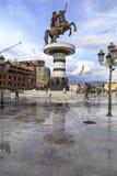 Monument d'Alexandre le grand, Skopje Photos libres de droits