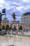 Monument d'Alexandre le grand, Skopje Image libre de droits