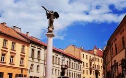 Monument d'ange à Vilnius image libre de droits
