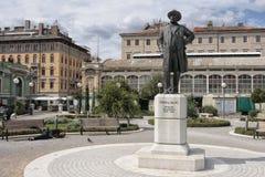 Monument d'Ivan Zajc dans la ville de Rijeka en Croatie Image libre de droits