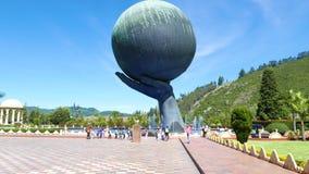 Monument d'un dieu intitulé par sculture de la Colombie Bogota Jaime Duque clips vidéos