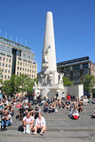 Monument on Dam square Stock Photography