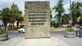 Monument dans Kutno Pologne Photo libre de droits