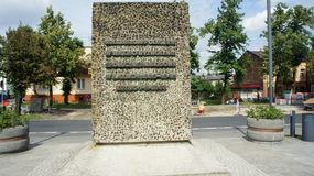 Monument dans Kutno Pologne photographie stock libre de droits