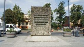 Monument dans Kutno Pologne images stock