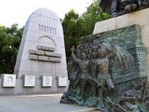 Monument - dans le combat contre le fascisme nous étions ensemble, allée de mémoire Photographie stock