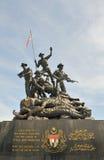 Monument dans le grand dos de l'indépendance à Kuala Lumpur Images stock