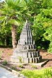 Monument dans un zoo Photo stock