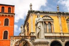 Monument of Dante Alighieri on the Piazza della Signoria. Verona Stock Image