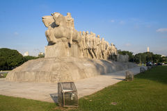 Monument de Bandeiras Photographie stock libre de droits