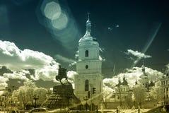 Monument de Bogdan Khmelnitsky dans l'avant à la cathédrale de St Sofia Photo libre de droits