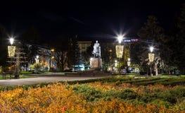 Monument de Bohdan Khmelnytsky au centre de la ville Ternopil, Ukraine images stock