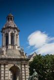 Monument de campanile, université Dublin de trinité Images libres de droits