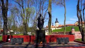 Monument de château de Nesvizh banque de vidéos