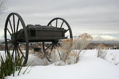 Monument de chariot de main Photo libre de droits