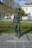 Monument de Charlie Chaplin dans la ville de Vevey, canton de Vaud photo libre de droits