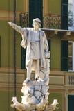 Monument de Christofer Columbus en Santa Margherita Ligure en Italie Images libres de droits