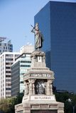 Monument de Cuitlahuac dans le Passeo grand, Mexico images libres de droits