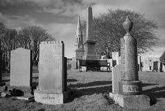 Monument de Culsh et cimetière de Commonwealth dans le nouvel aberdeenshire Ecosse de cerfs communs Photographie stock