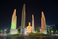 Monument de démocratie - le centre géographique de Bangkok Commence ici le kilomètre zéro de la Thaïlande Images stock