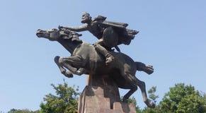 Monument de David Bek dans Kapan Images libres de droits