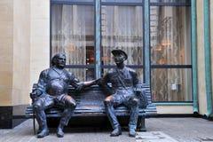 Monument de deux vieux amis à Tbilisi Image stock