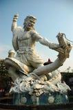Monument de dragon et de chevalier Image libre de droits