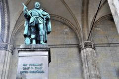 Monument de Feldherrnhalle, Munich, Allemagne photographie stock