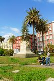 Monument de Giovanni Nicotera à Naples, Italie Photographie stock