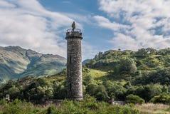 Monument de Glenfinnan dans le loch Shiel en Ecosse Images libres de droits