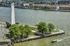 Monument de guerre De Boeg à Rotterdam image stock