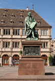 Monument de Gutenberg, France de Strasbourg photo libre de droits