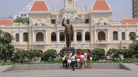 Monument de Ho Chi Minh en ville de Ho Chi Minh clips vidéos