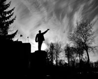 Monument de Lénine en revanche dans la ville de Baltiysk photos stock