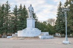 Monument de Lénine sur la place soviétique dans Rzhev, Russie Photographie stock libre de droits