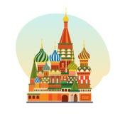 Monument de l'architecture russe, église orthodoxe de St Basil Blessed Images libres de droits