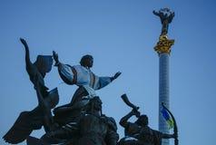 Monument de l'indépendance à Kiev, Ukraine, jour Photos libres de droits