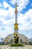 Monument 07 de l'indépendance d'Achgabat images stock