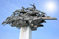 Monument de l'indépendance dans la ville d'Izmir, Turquie Images stock