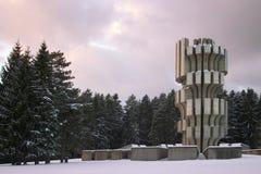 Monument de la deuxième guerre mondiale sur Mrakovica Photographie stock libre de droits