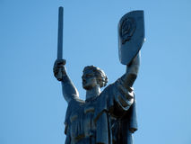 Monument de la patrie de mère à Kiev Photo stock